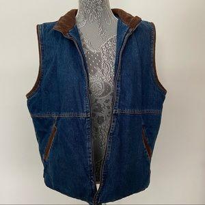 Wrangler Hero Sherpa Lined Jean Vest - size L